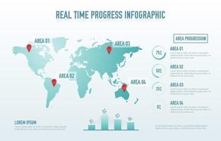 elementos de infografía de progreso vector