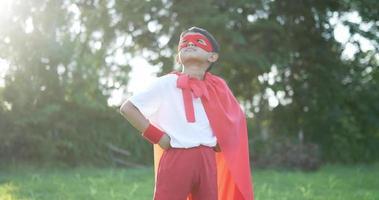 Hero Boy in Red in the Garden video