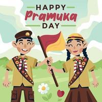 Indonesia Pramuka Day vector