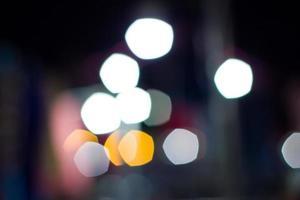 Fondo abstracto bokeh circular de luz nocturna foto