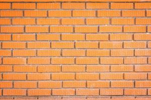 Red brick wall texture background with beautiful texture on the bricks photo