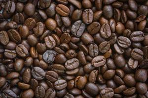 primer plano, seco, grano de café, plano de fondo foto