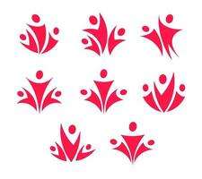 People union logo set. Access icon. Family and parent vector