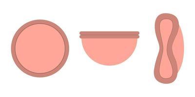 Reusable menstrual disk. Zero waste periods vector