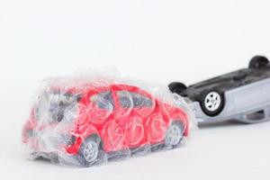 horizontal photo of two cars toy in accident scene