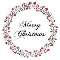 patrón de Navidad de rama y baya de serbal con corona. decoración perfecta de vacaciones. ilustración para postales, saludos, tarjetas, logo. vector