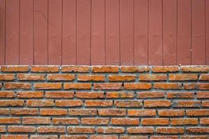 brick wall with vertical line brown background, splitted photo