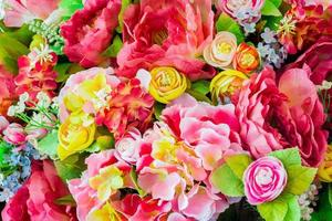 flowers background. Vintage, handmade sewing flowers photo