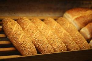 Grain corn bread on the shelf, Bakery Products, Pastry and Bakery photo