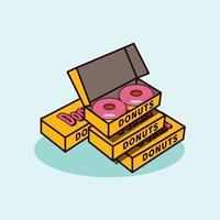 Donuts illustration icon modern style vector