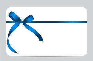 tarjeta de regalo con lazo azul y lazo. ilustración vectorial vector
