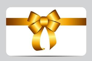 Gold Gift Ribbon. Vector illustration