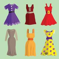 Collection of dresses vector