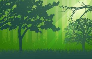 fondo del paisaje del bosque vector