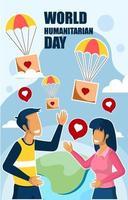 World Humanitarian Day Poster vector