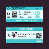 Football, Soccer Ticket Flat Design. vector illustration