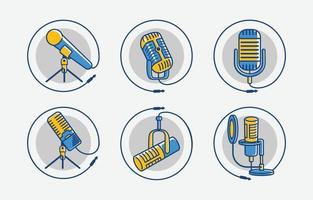 Internasional Podcast Day Icon vector