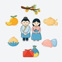 Happy Chuseok Festival Icon vector