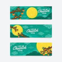 banner de feliz festival de chuseok vector