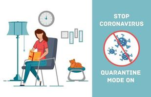 Distance learning during coronavirus epidemic study home. vector