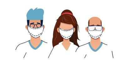 Protect from virus. Pneumonia disease. vector