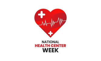 National health center week vector banner template