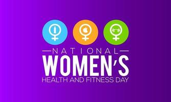 National womens health and fitness day banner design vector