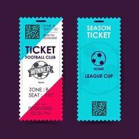 Football, Soccer Ticket Design. Vector illustration