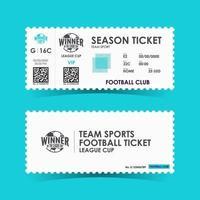 Soccer, Football Ticket Design. Vector illustration