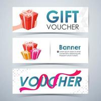 Gift Voucher Banners, Template Layout Website. Vector illustration