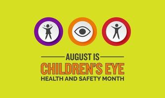 Childrens eye health and safety month banner vector