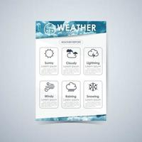 Weather Infographic Report, Brochures Cover Template Layout vector