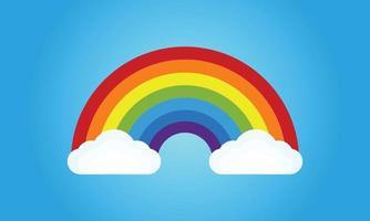 Colorful rainbow vector illustration