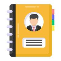 Contacts Book and Phone Directory vector