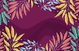 Colorful Leaves and Foliage Background vector