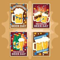 cartel del día internacional de la cerveza vector