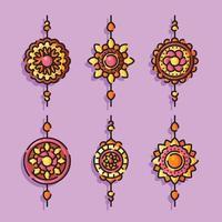 Rakhi Element Set vector