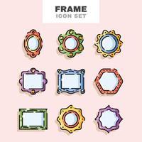 Frame Icon Set vector