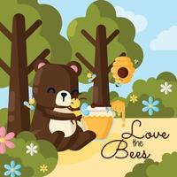 Love the Bees vector
