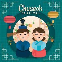 Happy Chuseok Korean Festival vector