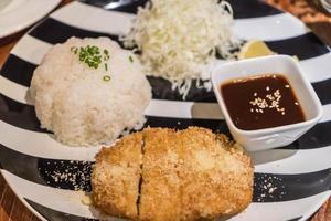 Rice with Pork Cutlet Tonkatsu photo