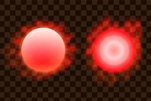 Red circle sun effect eps vector isolated element