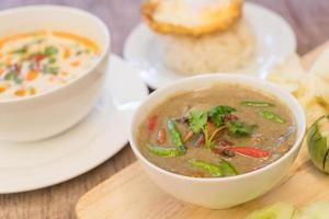 Crab in coconut soup or Crab stew photo