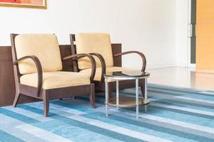 Empty chair decoration in living room interior background photo