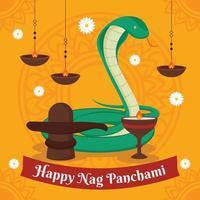 Happy Nag Panchami Background vector