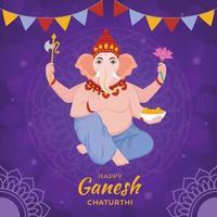 Happy Ganesh Chaturthi Background vector