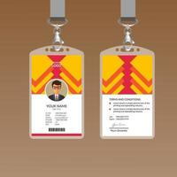 Red Elegant ID Card Design Template vector