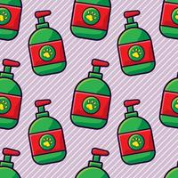 pet shampo seamless pattern  illustration vector