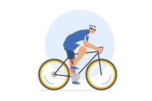 Cycling race vector illustration. sport.