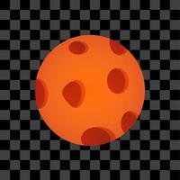 Orange planet object eps vector planetary space editable circle